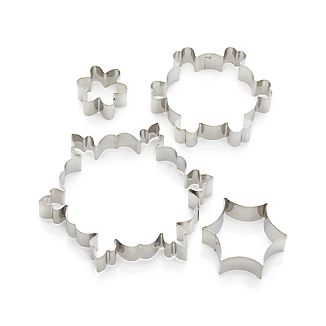 Set of 4 Snowflake Cookie Cutters