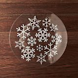 Snowflake Glass Dinner Plate