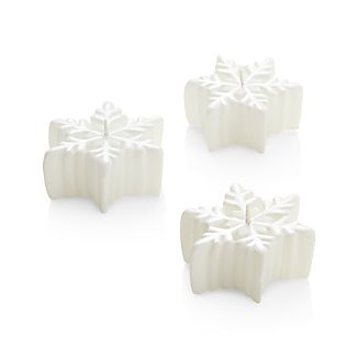 Set of 3 Snowflake Floating Candles
