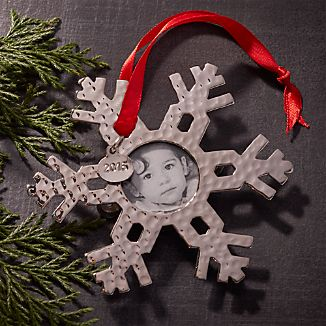 Snowflake Photo Frame Ornament with 2016 Charm