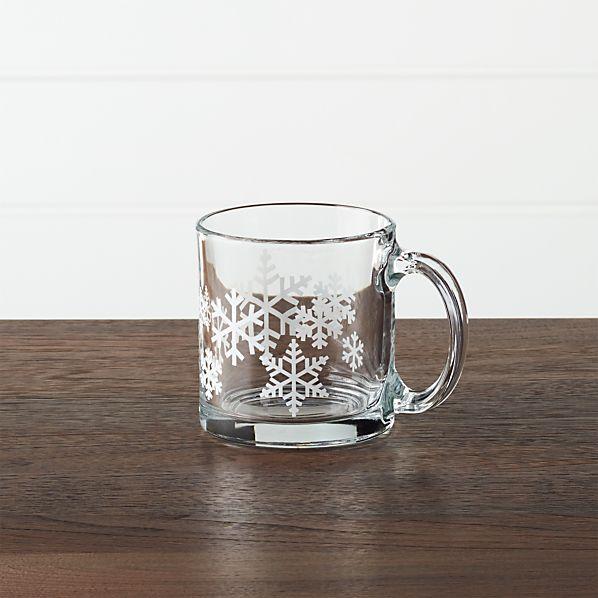 Snowflake 7 oz. Glass Coffee Mug