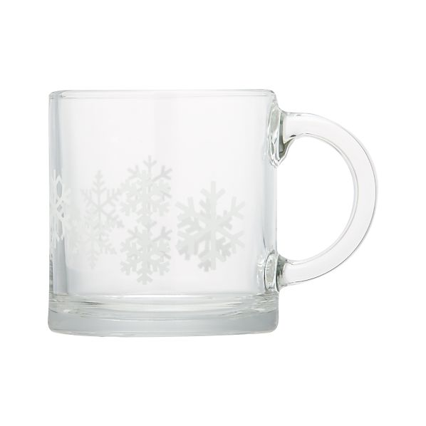 Snowflake 7 oz. Glass Coffee Mug
