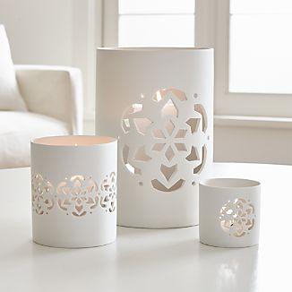 Snowflake Porcelain Hurricanes