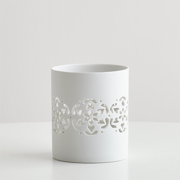 Snowflake Hurricane Candle Holder