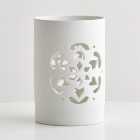 Snowflake Extra Large Hurricane Candle Holder