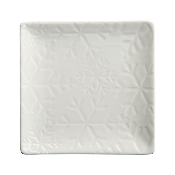 "Snowflake 6"" Plate"