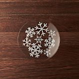 Snowflake Glass Salad Plate