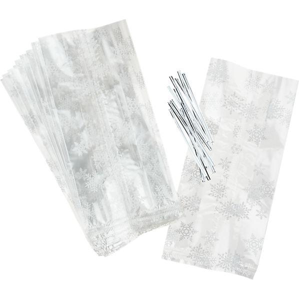 Set of 12 Snowflake Treat Bags