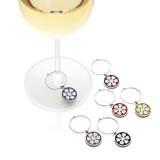 Set of 6 Snowflake Wine Charms