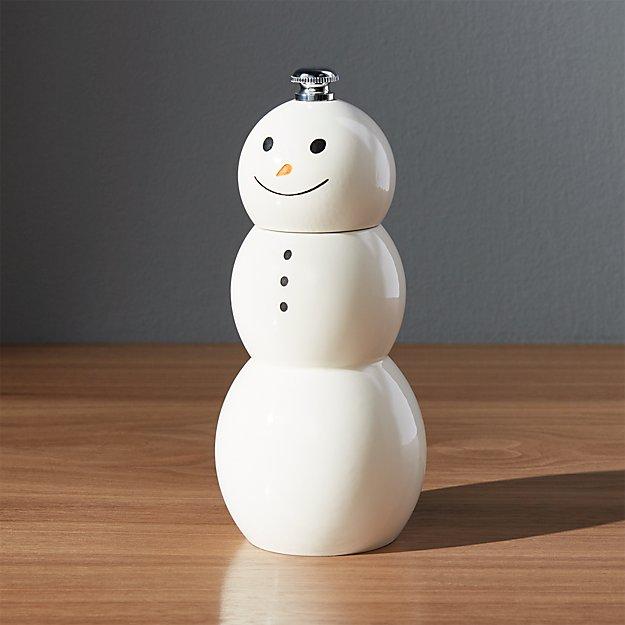 Snowman Pepper Mill