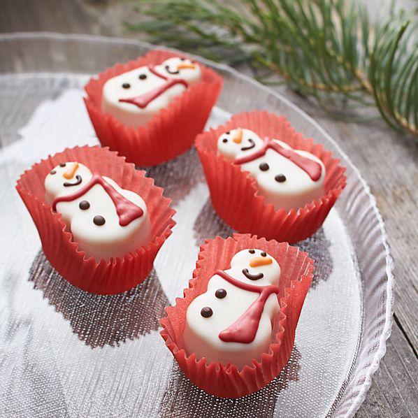 Set of 4 Snowman Petit Fours