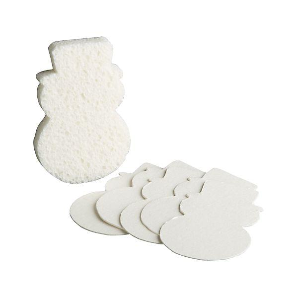 Set of 6 Snowman Sponges