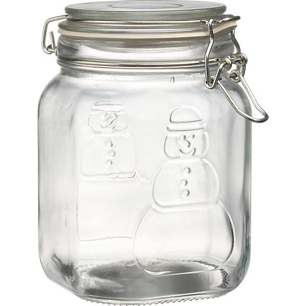 Snowman Storage Jar
