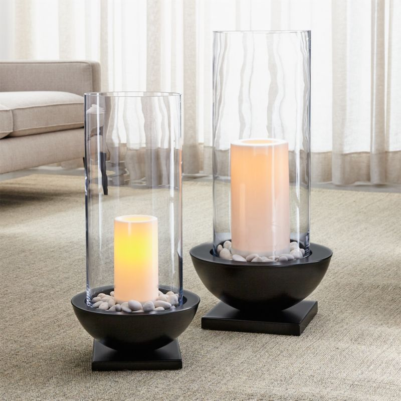 Solaria Hurricane Candle Holders Crate And Barrel