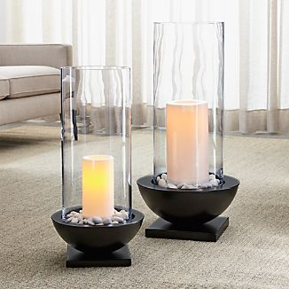 Solaria Hurricane Candle Holders