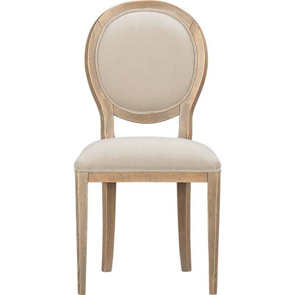 Sonata Pinot Grigio Oval Side Chair