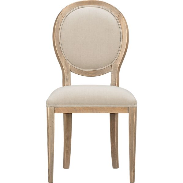 Sonata Pinot Grigio Oval Side Chair