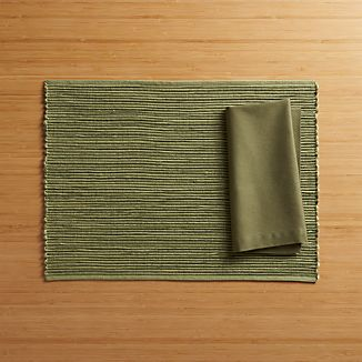 Sonoma Moss Placemat and Fete Moss Napkin
