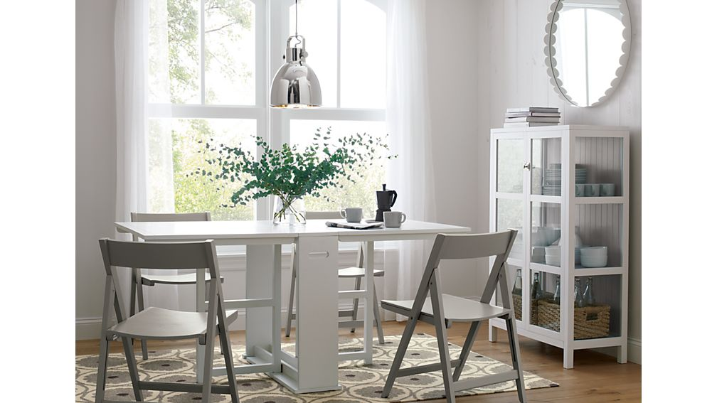 Span White Gateleg Dining Table Crate And Barrel