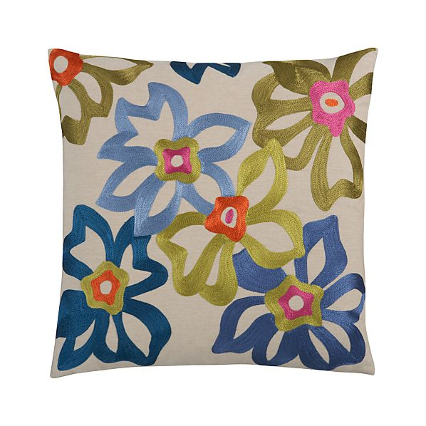 "Spanish Flower 20"" Pillow"