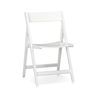 Set of 4 Spare White Folding Chairs