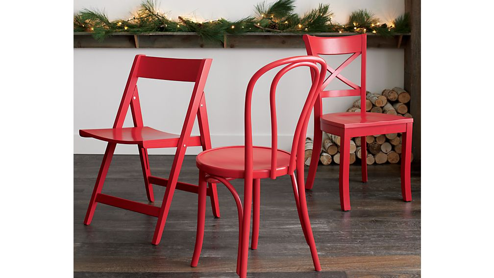 Vintner Red Wood Dining Chair Crate And Barrel