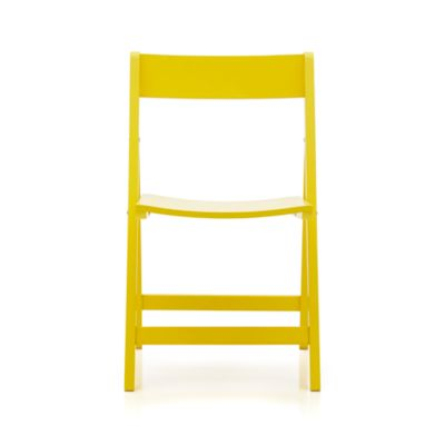 Spare Yellow Folding Chair