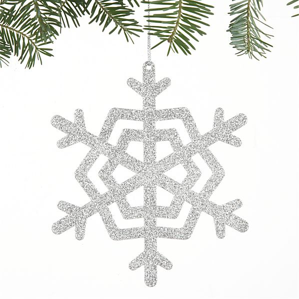 Sparkly Glitter Large Snowflake Ornament