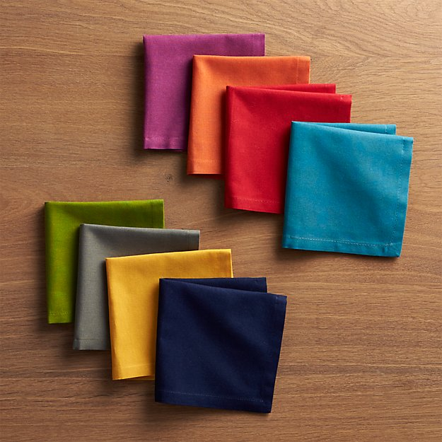 Set of 8 Spectra Cloth Cocktail Napkins