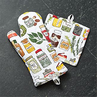 Spice World Oven Mitt and Pot Holder