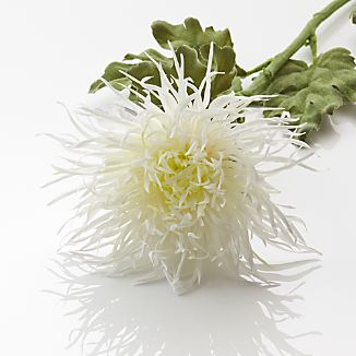White Spider Mum Artificial Flower Stem