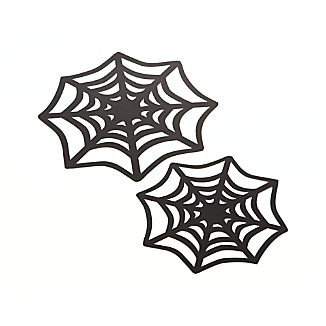 Set of 12 Spider Web Halloween Doilies