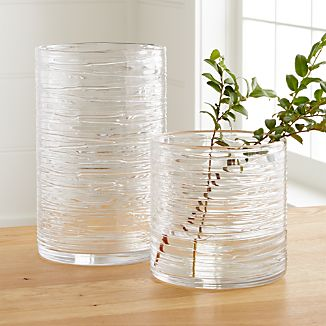 Spin Glass Hurricane Vases/Candle Holders