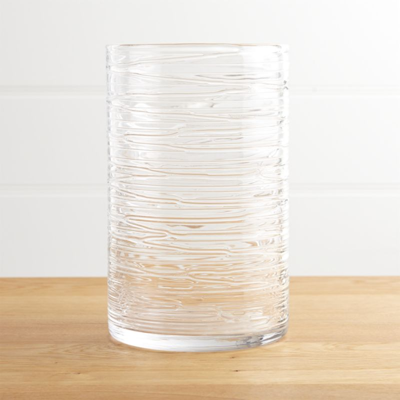 Spin Glass Hurricane Candle Holder Vase