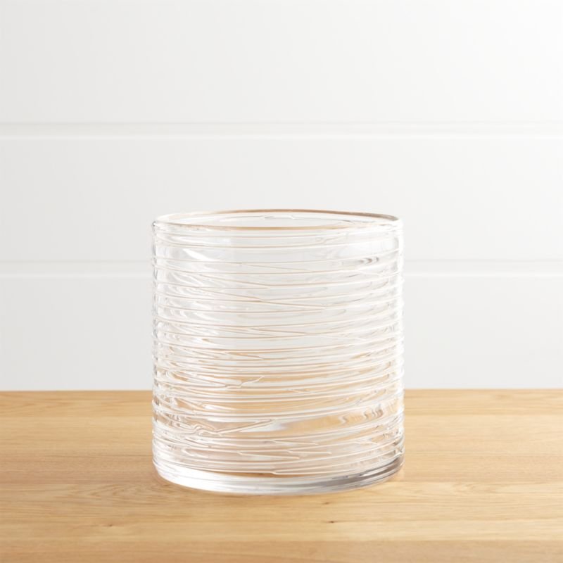 Spin Small Glass Hurricane Candle Holder Vase Crate And