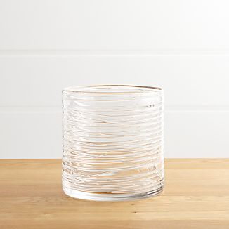 Spin Small Glass Hurricane Candle Holder/Vase