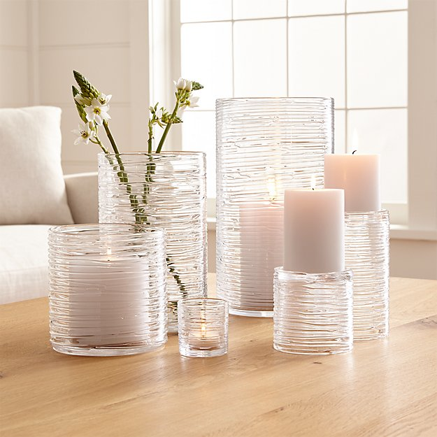 Spin Glass Hurricane Candle Holders Vases Crate And Barrel