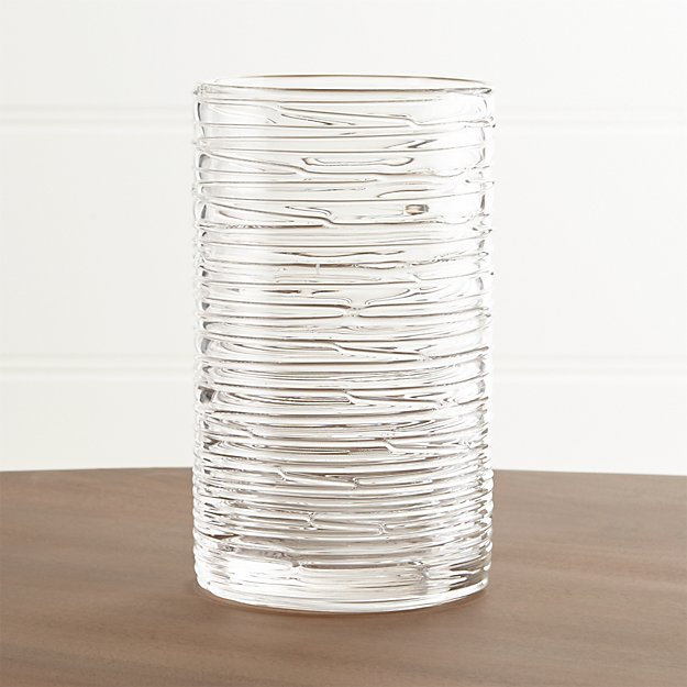 Spin Large Glass Pillar Candle Holder