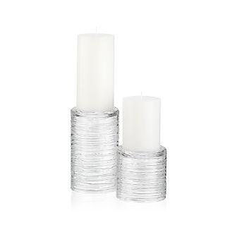 Spin Glass Pillar Candle Holders