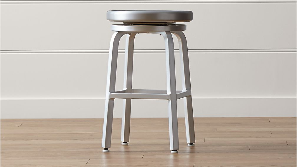 Spin Swivel Backless Counter Stool Crate And Barrel