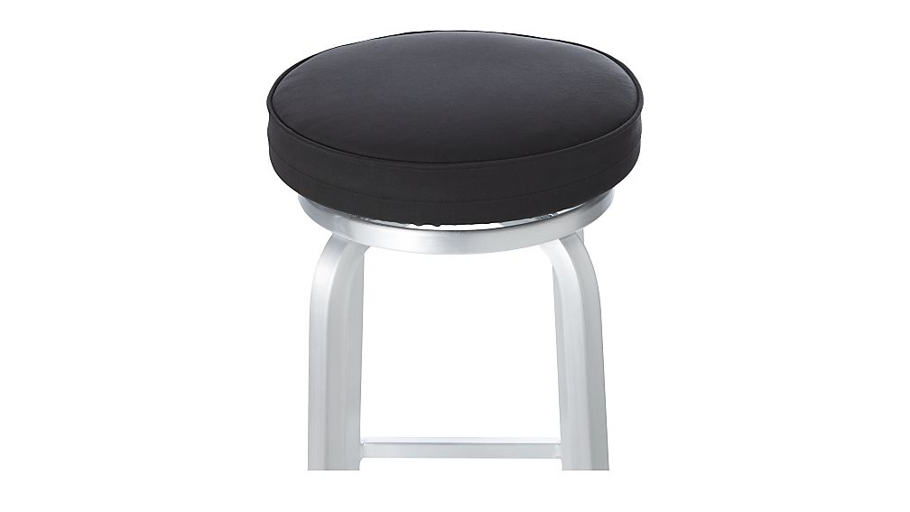 Spin Black Bar Stool Cushion Crate And Barrel