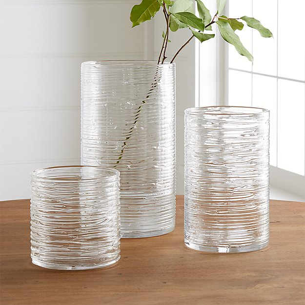 Spin Glass Hurricane Vases Candle Holders Crate And Barrel