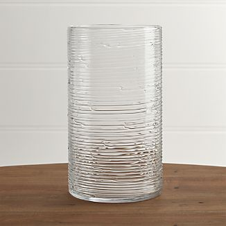 Spin Glass Extra Large Hurricane Candle Holder/Vase.