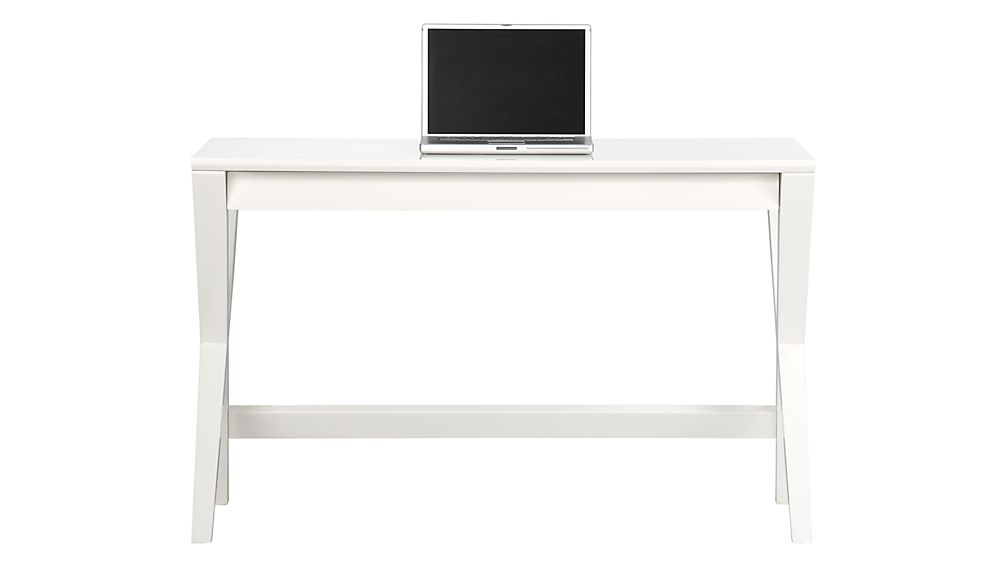 "Spotlight White 48"" Writing Desk"