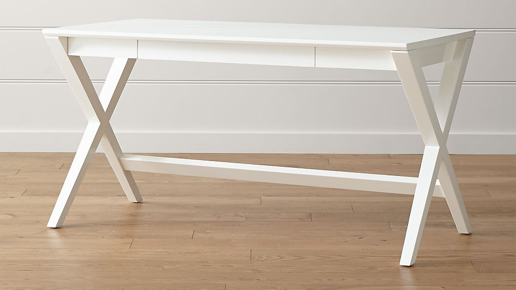 "Spotlight White X-Leg Desk 58"" + Reviews 