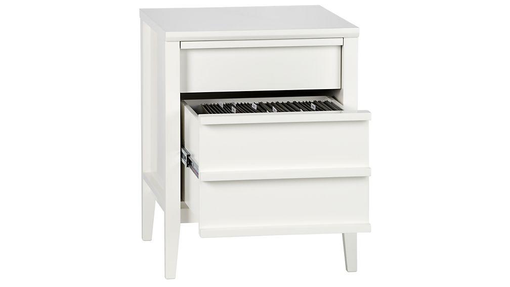 Spotlight White Filing Cabinet