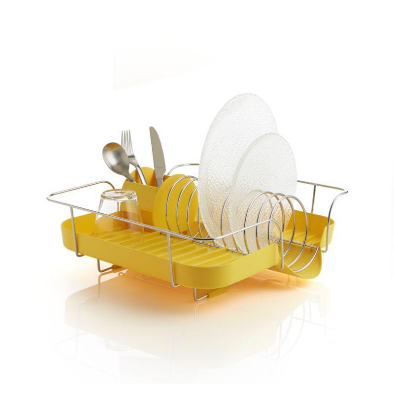 Polder ® Yellow Corkscrew Dish Rack