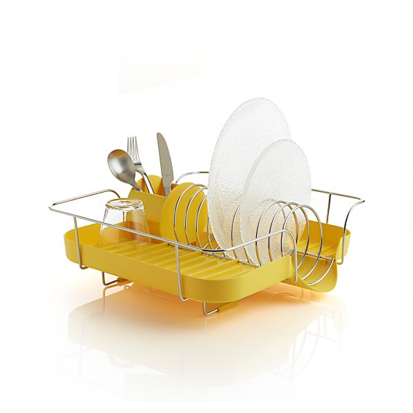 Polder ® Yellow Corkscrew Dish Rack