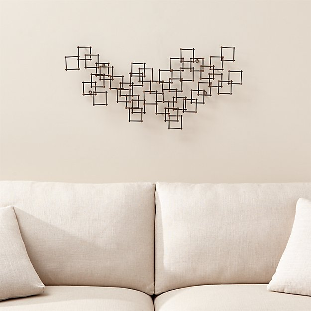 Squares nail metal wall art crate and barrel for How to design wall art