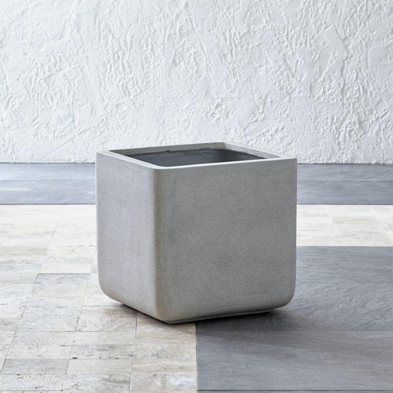 square large planter crate and barrel. Black Bedroom Furniture Sets. Home Design Ideas